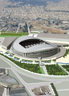New Football Stadium of Panathinaikos F.C. in Votanikos, Athens